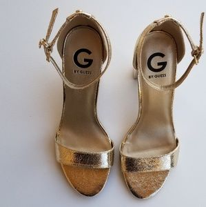 Guess//Ankle Strap Block Heel Shoe